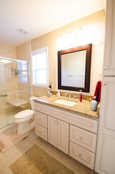 complete bathroom remodel - new countertops - double showers