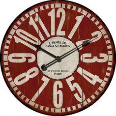 Wall Clock -  Paris Wall Clock from Earth Homewares