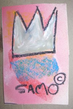 Original US vintage SAMO crown Basquiat NYC Graffiti Art postcard circa 1980 coa #Modernism