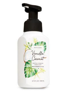 Foaming Hand Soaps - Vanilla Coconut Gentle Foaming Hand Soap by Bath & Body Works - Bath Body Works, The Body Shop, Mousse, Coconut Soap, Nails Polish, Essential Oils Soap, Liquid Hand Soap, Bath And Bodyworks, Body Soap