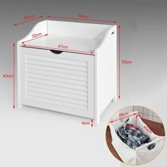 IN STOCK: best prices on Laundry basket - top promotions from the biggest choice online! Laundry Box, Laundry In Bathroom, Laundry Basket, White Bathroom Storage Cabinet, Image House, Toy Chest, Storage Chest, Furniture, Home Decor