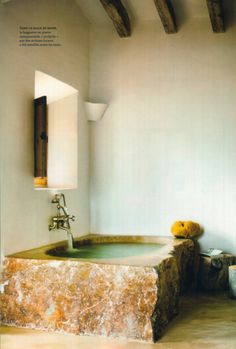 How Fantastic Is That Stone Tub?
