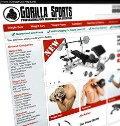 Gorilla Sports UK - professional gym equipment #ecommerce #web # design