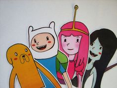 Adventure Time Tea hangers set  Jake Finn Marceline by BigNerdWolf
