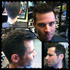 Hair by Nikki #mens #hair #barber #professional #edgy #haircut #tangleduosalonvb #hairtalk #shorthair  Www.tangleduosalon.com