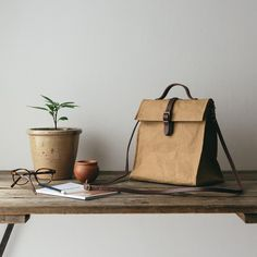 Uashmama Lunch Bag Brown - The Future Kept