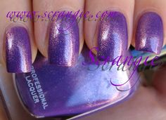 Dannii. It's a purple shimmer that reflects red and gold. Intimate Collection Spring 2011