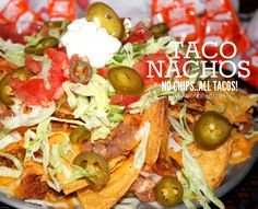 ~Taco Nachos! ..NO chips, just TACOS! | Oh Bite It