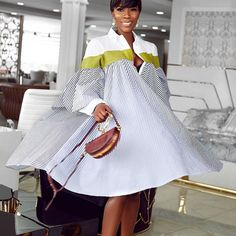 Summer Striped Shirt Dress Women Fashion 2019 Splicing Turn Down Collar Loose Vintage Dress Vestidos Oversized Shirt Dress, Striped Shirt Dress, Long Sleeve Shirt Dress, African Fashion Dresses, African Dress, Casual Dresses For Women, Short Dresses, Cheap Dresses, Moda Afro