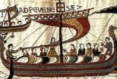 Bayeux Tapestry (1070?).  Also on my bucket list of things to see.  Not actually a tapestry, but a long embroidered cloth detailing the Norman Invasion of England in 1066.