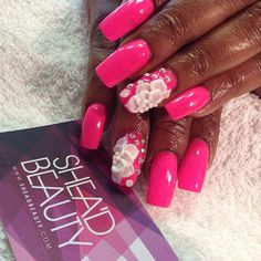 Pretty in pink! Nails did by Shea'D Beauty girl...