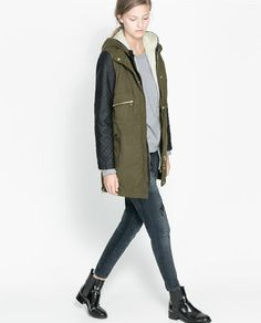 STUDIO THREE QUARTER LENGTH COAT WITH SHIRT - STYLE COLLAR - Woman ...