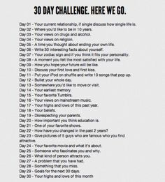 Anna Kemp: 30 DAY CHALLENGE - LET'S