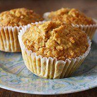 Muffin di fiocchi d'avena all'arancia a basso indice glicemico