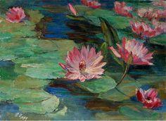 Lotus Pond, painting by Xu Jian Bai (Jian Bai Xu)