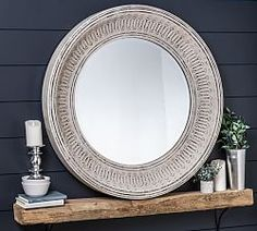 Winslet Wall Mirror Pottery Barn Half Round Decorative Mirror With Ledge Pottery Barn Teen . Mirror With Hooks, Round Wall Mirror, Mirror Set, Round Mirrors, Kids Mirrors, Bath Mirrors, Beaded Mirror, Tinted Mirror, Farmhouse Mirrors
