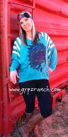 Big Chief Turquoise Top
