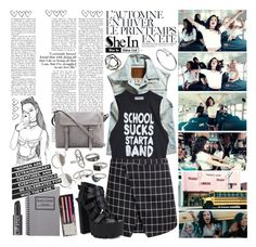 """""""Shein <3 [ Plaid Bodycon Skirt ]"""" by miss-happy ❤ liked on Polyvore featuring Été Swim, Charli, Wet Seal, Fahrenheit, Mudd, Ted Baker, Cartier and Feather & Stone"""
