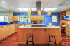 This midcentury beauty in Berkeley features custom details throughout. It has been lovingly cared for by same family for nearly 40 years. We love this kitchen! Offered at $1,200,000 http://pacunion.us/1466grizzlypea