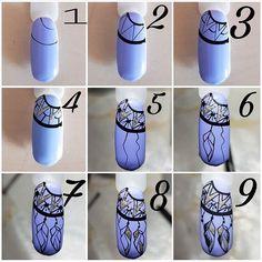 Нет описания фото. Fingernail Designs, Nail Art Designs, Feather Nail Art, Nail Art Techniques, Dope Nails, Hand Painting Art, Coffin Nails, Swirls, Pedicure
