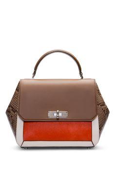 Small Leather Tote Bag In Tobacco - Bally Resort 2016 - Preorder now on Moda Operandi