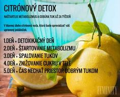 Citrónový detox a úprava Smoothie Detox, Cleanse, Russian Recipes, Fruit, Food, Diet, Medicine, Essen, Meals