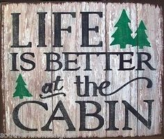 Life Is Better At The Cabin Rustic Primitive Distressed Wood Sign Home Decor Diy Rustic Decor, Country Decor, Wood Signs Home Decor, Diy Home Decor, Wooden Signs, Room Decor, Cabin Signs, Lake Signs, Distressed Wood Signs