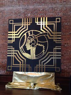 Great Gatsby prom. Painted by the student art club