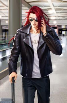 Hot Anime Boy, Anime Love, Character Design Inspiration, Fantasy Inspiration, Anime Red Hair, Red Hair Men, Animated Man, Samurai, Anime Princess
