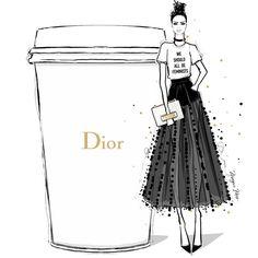 いいね!7,492件、コメント52件 ― Megan Hessさん(@meganhess_official)のInstagramアカウント: 「JADIOR my coffee this morning! We Should All be Feminists and drink DIOR.」