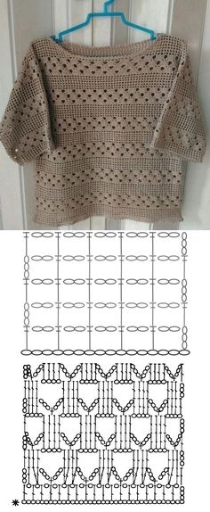 10 modelos de blusa de crochê com gráfico do ponto ⋆ De Frente Para O Mar Crochet Bolero Pattern, Débardeurs Au Crochet, Pull Crochet, Gilet Crochet, Mode Crochet, Crochet Jacket, Crochet Woman, Crochet Blouse, Crochet Diagram