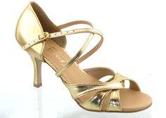Dámské taneční boty AKCES PAS3-100S zlatá eco kůže Tango 83aecd5c2d
