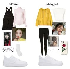 """""""Untitled #21"""" by alexiavue ❤ liked on Polyvore featuring Hollister Co., NIKE, Courrèges, M&Co, Puma, Topshop, Armitage Avenue and Casetify"""