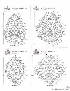 Asahi Original Lacework Pineapple Pattern By Crowe Berry - Issuu Crochet Crochet Earrings Pattern, Crochet Motif Patterns, Crochet Diagram, Crochet Chart, Crochet Ideas, Pineapple Crochet, Pineapple Pattern, Crochet Books, Thread Crochet