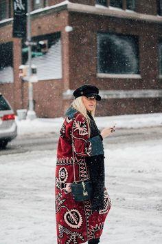 New York Fashion Week Street Style   British Vogue Pinterest: KarinaCamerino