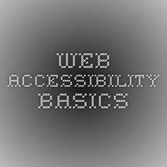 Web accessibility basics