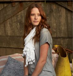 We love this organic tee with white scarf...simple but oh so stylish!