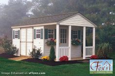 Garden Shed Ideas | ... Shed designs — or, Sheds with Porches! » Porch Patio Garden Shed