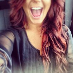 Chelsea houska love this color of red hair! Chelsea Houska Hair, Blond, Wine Hair, Dye My Hair, Gorgeous Hair, You're Beautiful, Hair Dos, Pretty Hairstyles, Hair Hacks