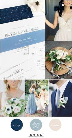 Dusty Blue, Navy, and Blush Wedding Inspiration
