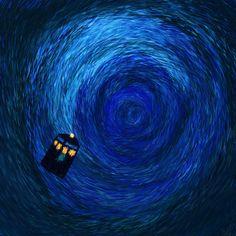 Love the Tardis. The Tardis In The Time Vortex Tardis Art, Now Watch, Doctor Who Tardis, Anaconda, Blue Box, Fun Facts, Fangirl, Waves, Deviantart