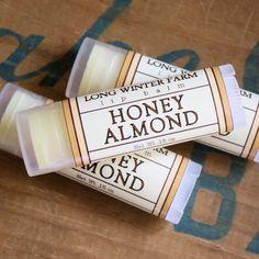 Honey Almond Lip Balm // Long Winter Farm