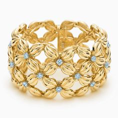 Tiffany & Co. Schlumberger® Daisy bracelet in 18k gold with diamonds.