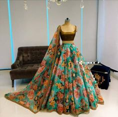 Crop Indian Gowns Dresses, Indian Fashion Dresses, Indian Designer Outfits, Formal Dresses, Party Dresses, Designer Dresses, Wedding Dresses, Ghagra Choli, Bridal Lehenga Choli