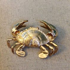 Napier Crab Brooch Marked by KarensKraftwear on Etsy Modern Jewelry, Diy Jewelry, Vintage Jewelry, Jewellery, Nautical Jewelry, Animal Decor, Animal Jewelry, Wow Products, Statement Jewelry