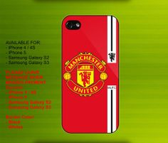 Manchester United FC case for iPhone 4/4S iPhone 5 Galaxy S2/S3 #iPhonecase #iPhoneCover #3DiPhonecase #3Dcase #S4 #s5 #S5case