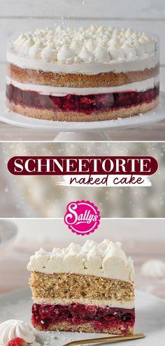 Baby Food Recipes, Cake Recipes, Dessert Recipes, Cakes Originales, Winter Torte, Mary Recipe, Naked Cakes, Funny Cake, Sweet Bakery