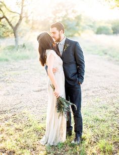 kyndra + trevor | Aiguille Gown from @BHLDN | via: green wedding shoes | #BHLDNbride
