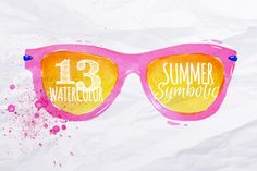 Check out Set Watercolor summer by Anna on Creative Market