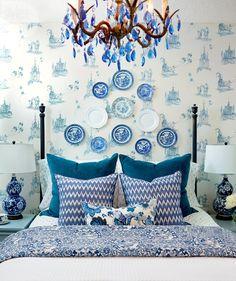 blue+white+bedroom.jpg (680×810)